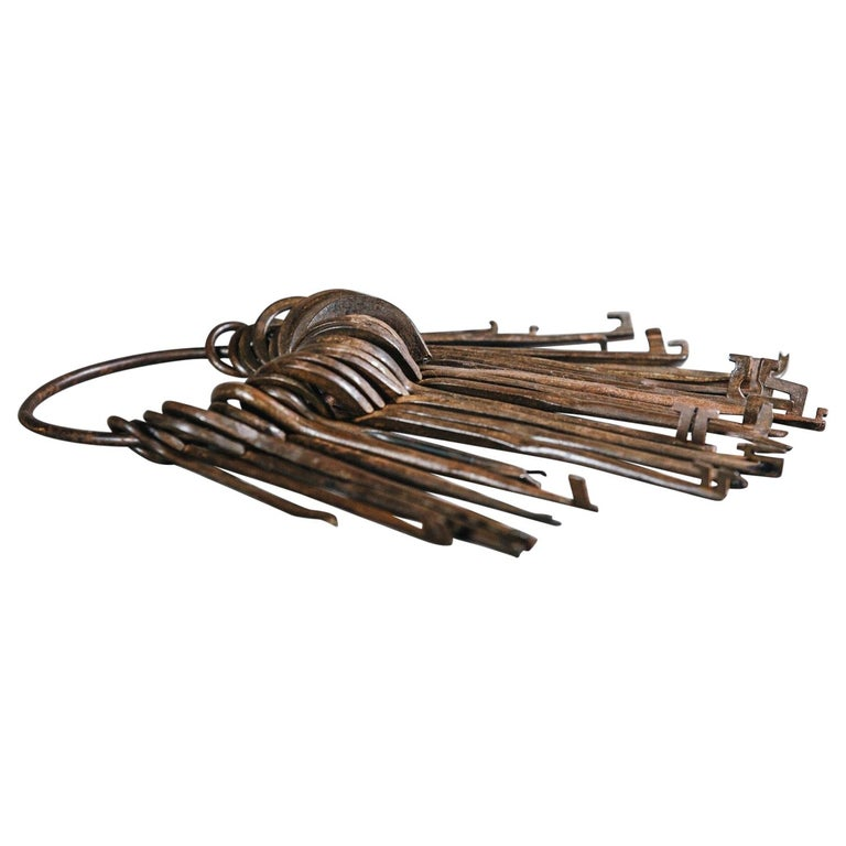 18th and 19th Century Lock Pickers Skeleton Keys For Sale