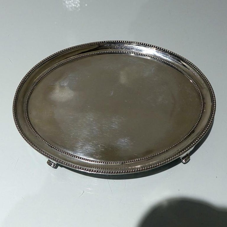 Georgian Antique George III Sterling Silver Pair of Salvers London 1781 Smith and Sharp For Sale