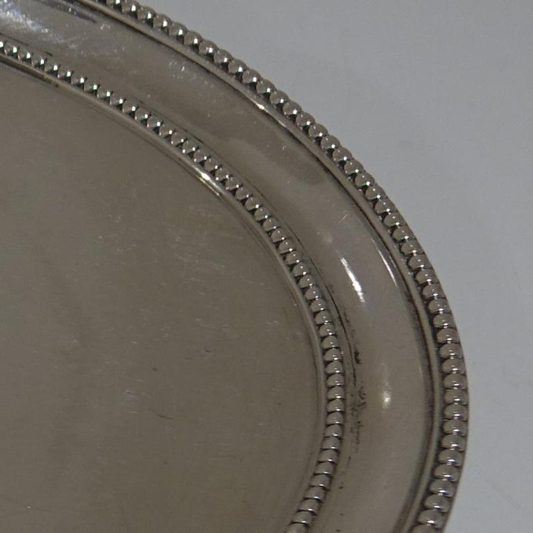 Late 18th Century Antique George III Sterling Silver Pair of Salvers London 1781 Smith and Sharp For Sale