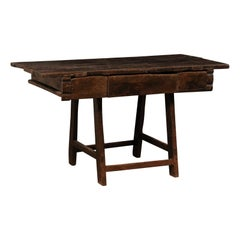 18th C. Brazilian Peroba Wood Table with Drawers, Exquisitely Rustic