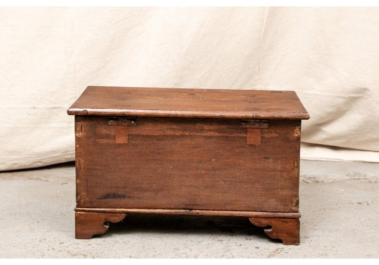 18th Century Diminutive Carved Mahogany Chest For Sale 2