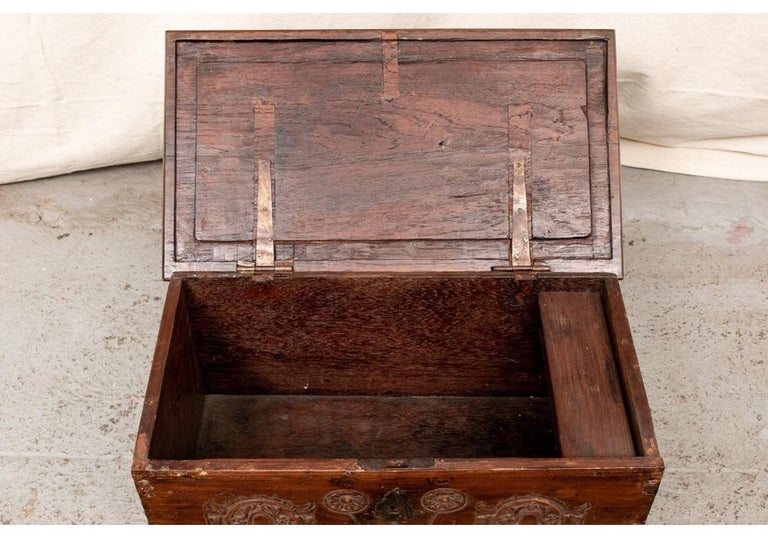 18th Century Diminutive Carved Mahogany Chest For Sale 3