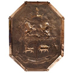 18th Century English Copper Armorial Wall Hanging