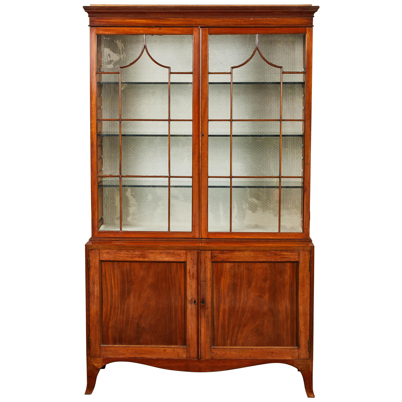 18th Century English Mahogany George III Display Cabinet