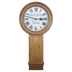 18th C. English Pine Curtis & Horspool London Act of Parliament Tavern Clock