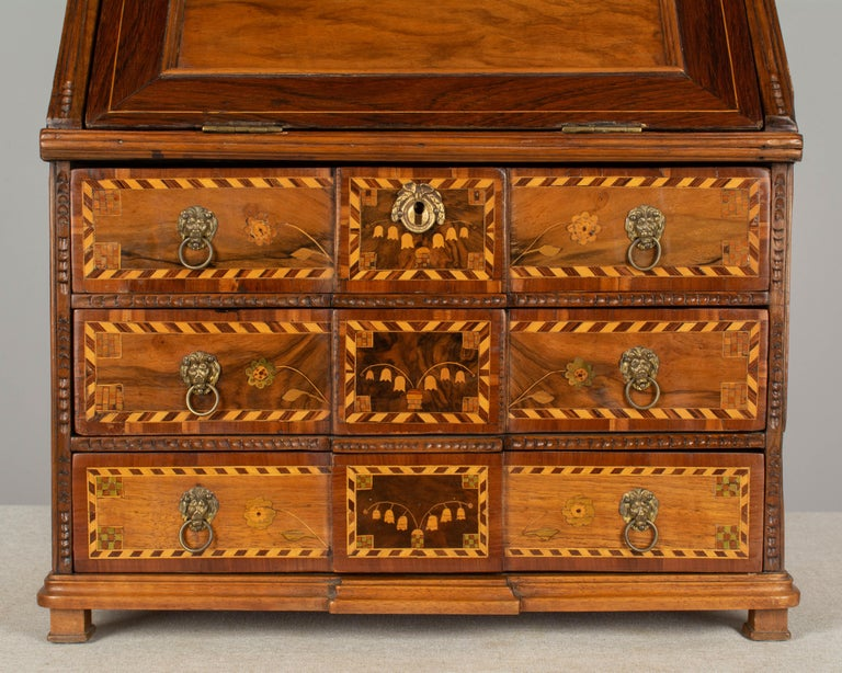 18th Century French Louis XVI Miniature Marquetry Secretaire or Desk For Sale 6