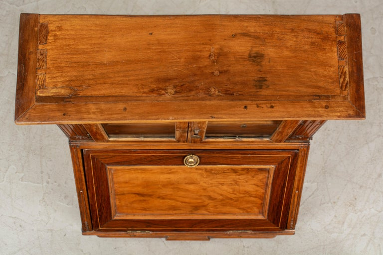 18th Century French Louis XVI Miniature Marquetry Secretaire or Desk For Sale 7