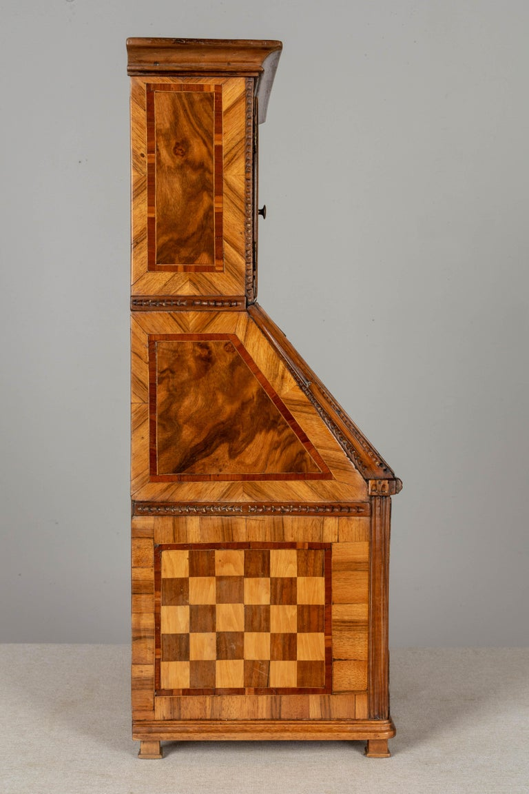 18th Century French Louis XVI Miniature Marquetry Secretaire or Desk For Sale 1