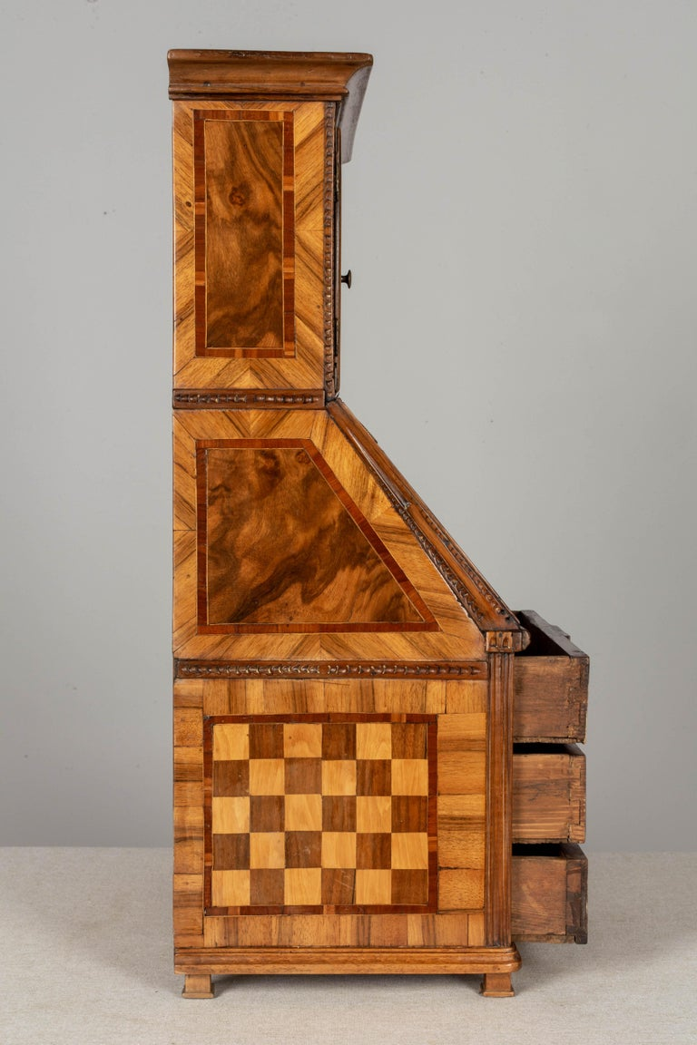 18th Century French Louis XVI Miniature Marquetry Secretaire or Desk For Sale 2