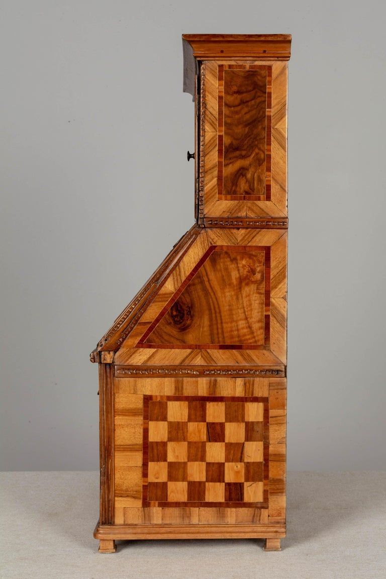 18th Century French Louis XVI Miniature Marquetry Secretaire or Desk For Sale 3