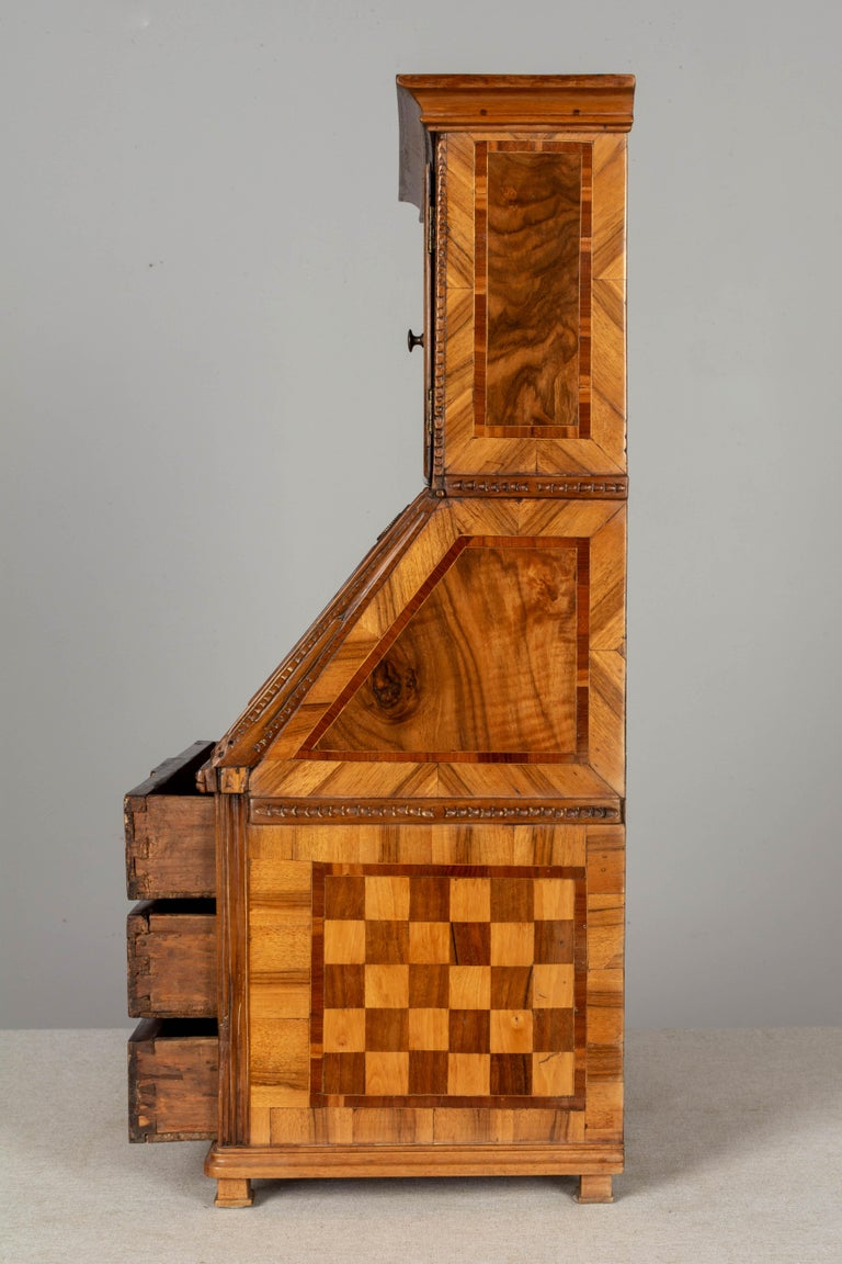 18th Century French Louis XVI Miniature Marquetry Secretaire or Desk For Sale 4
