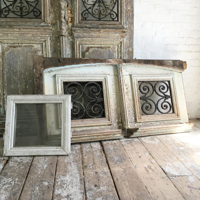 18th Century French Oak Chateau Doors with Transom For Sale 4