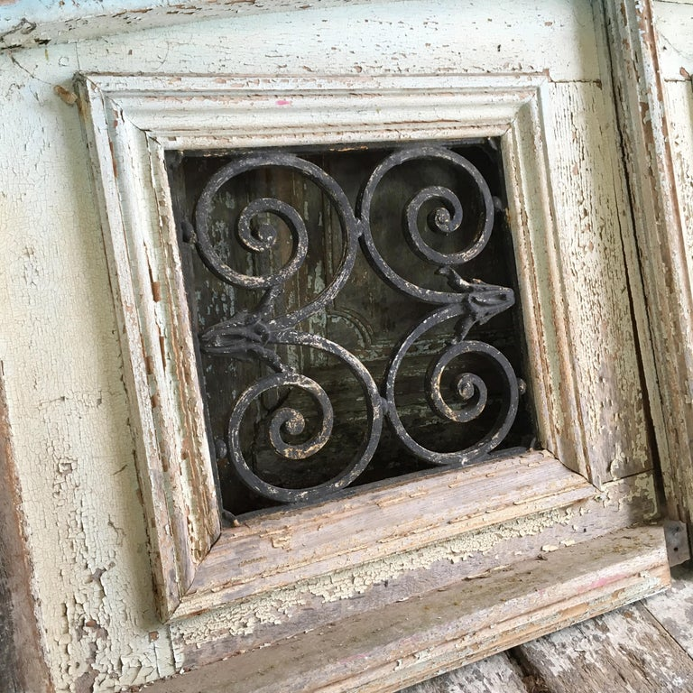 18th Century French Oak Chateau Doors with Transom For Sale 5
