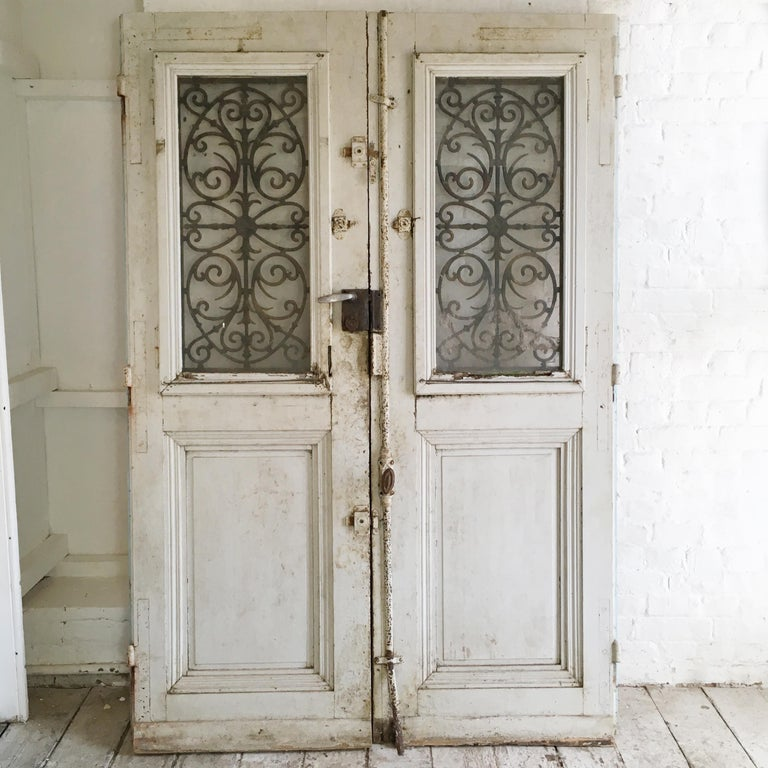 18th Century French Oak Chateau Doors with Transom For Sale 6