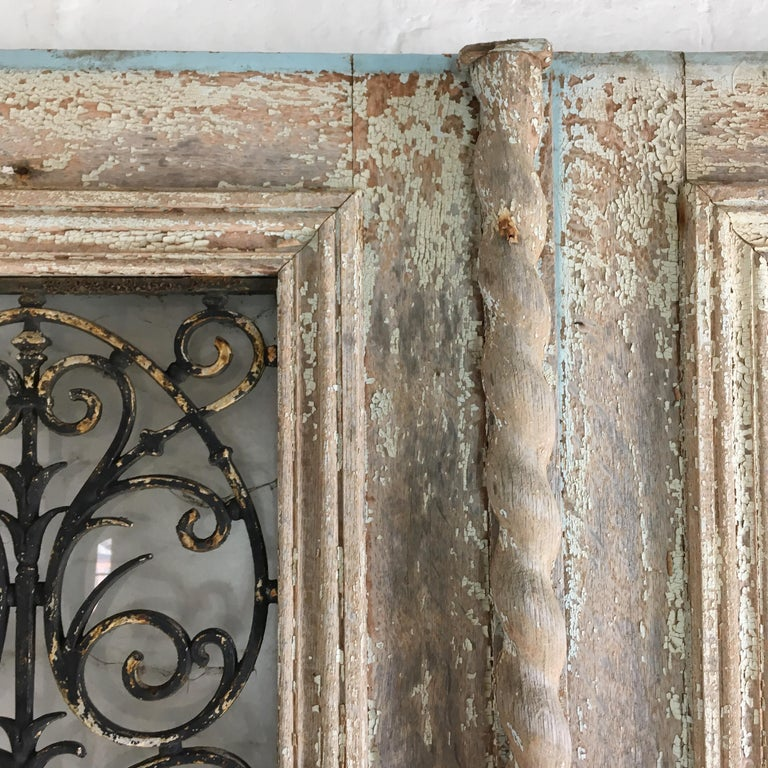 18th Century French Oak Chateau Doors with Transom For Sale 1