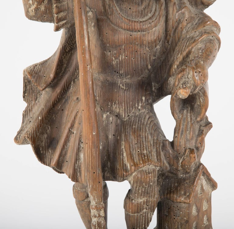 Baroque 18th Century German Carved Wood Figure of Saint Florian For Sale