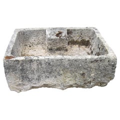 Hand Carved Stone Container Trough Sink Fountain Basin Lavoir Antiques LA