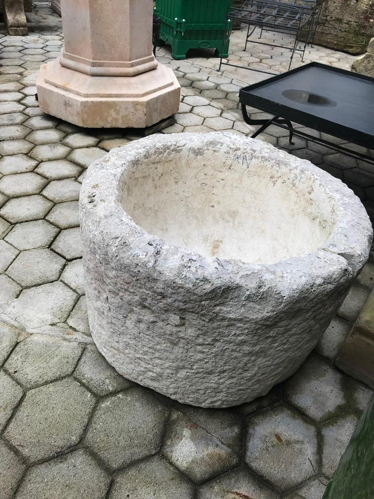 Hand Carved Stone Container Planter Jardiniere basin fountain trough antiques LA For Sale 6