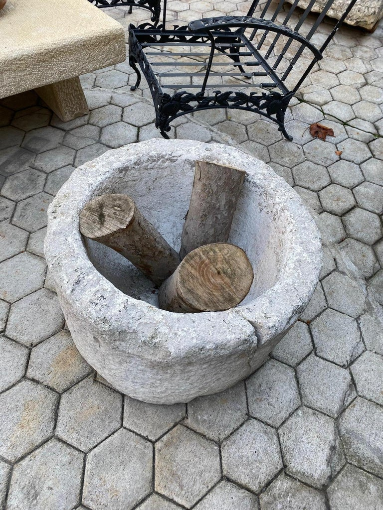 Hand Carved Stone Container Planter Jardiniere basin fountain trough antiques LA For Sale 1