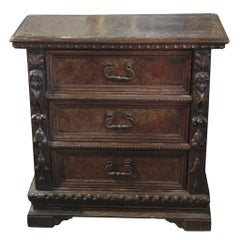 18th Century Italian Carved Walnut Chest