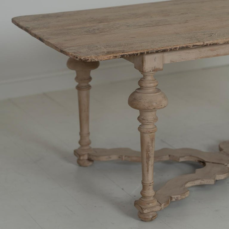 18th Century and Earlier 18th Century Italian Pine Painted Table For Sale