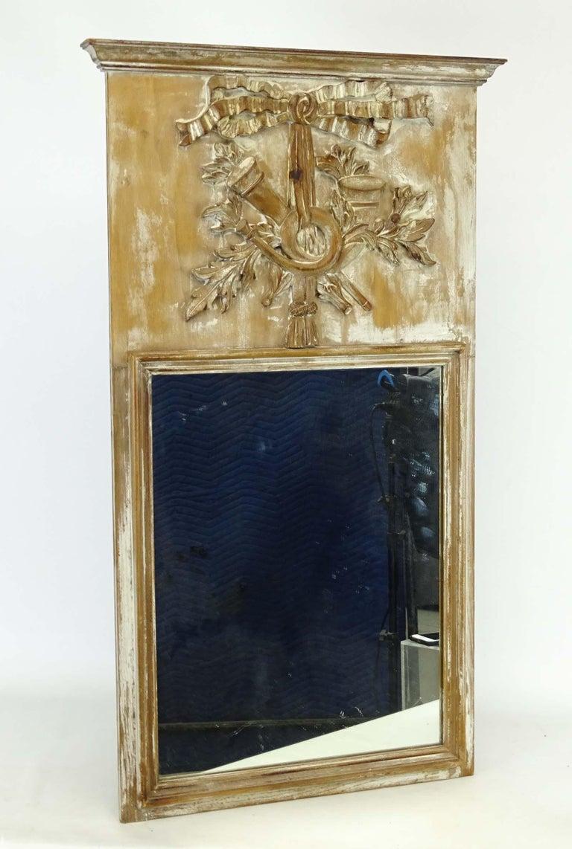 Louis XVI 18th Century Louis XV Trumeau Mirror For Sale
