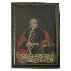 18th c  Oil On Canvas Portrait of Italian  Nobleman
