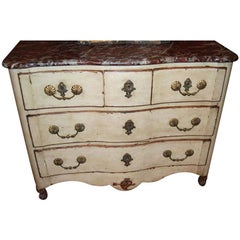 18th c. Painted Commode with Carved Heart