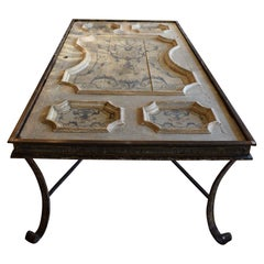 18th Century Painted Door Custom Dining Table