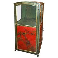 18th c.  Red Chinoiserie Sedan Chair