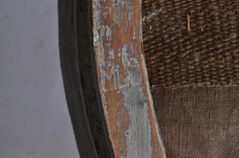 18th Century Swedish Gustavian Footstools in Original Paint by Melchior Lundberg For Sale 2