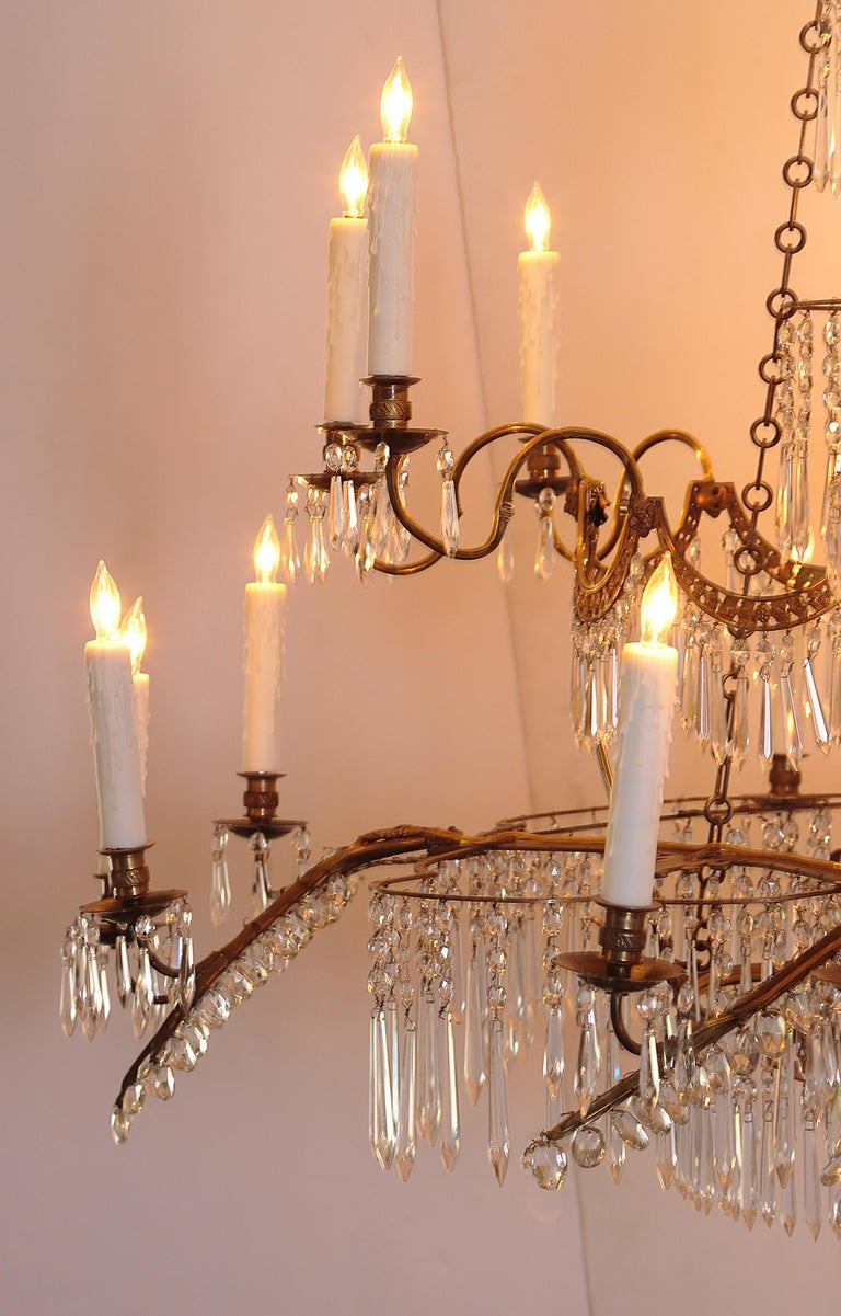 18th Century 20-Light Neoclassic Chandelier, German Probably Werner & Mieth For Sale 5