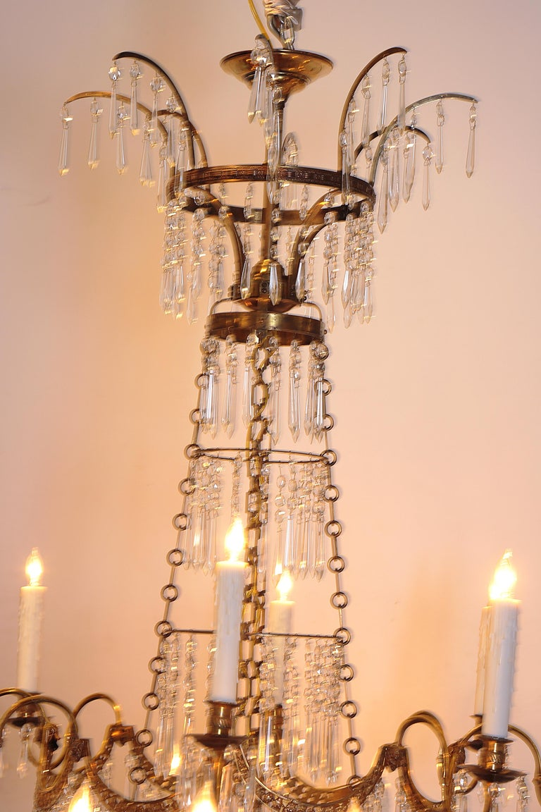 18th Century 20-Light Neoclassic Chandelier, German Probably Werner & Mieth For Sale 6