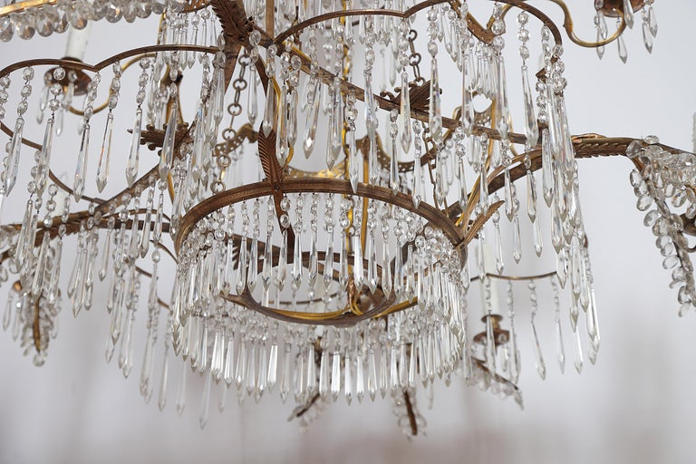18th Century 20-Light Neoclassic Chandelier, German Probably Werner & Mieth For Sale 7