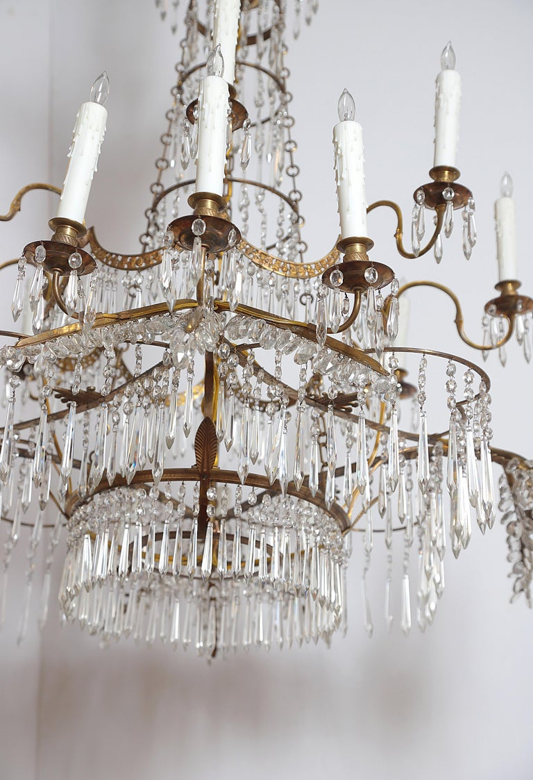 18th Century 20-Light Neoclassic Chandelier, German Probably Werner & Mieth For Sale 8