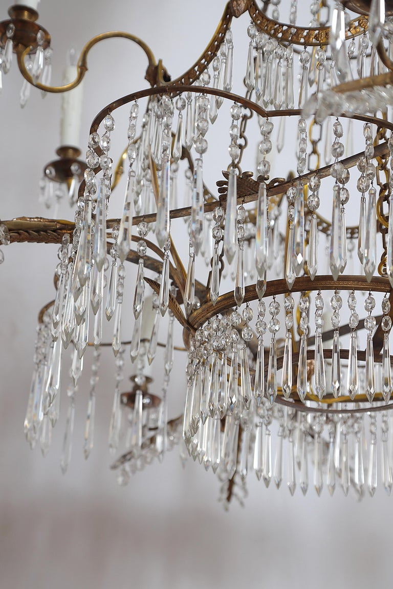 18th Century 20-Light Neoclassic Chandelier, German Probably Werner & Mieth For Sale 9