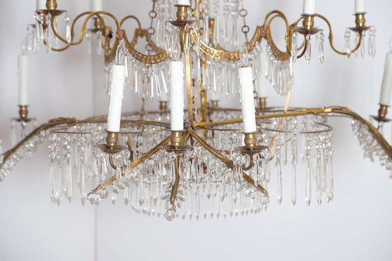 18th Century 20-Light Neoclassic Chandelier, German Probably Werner & Mieth In Good Condition For Sale In Dallas, TX