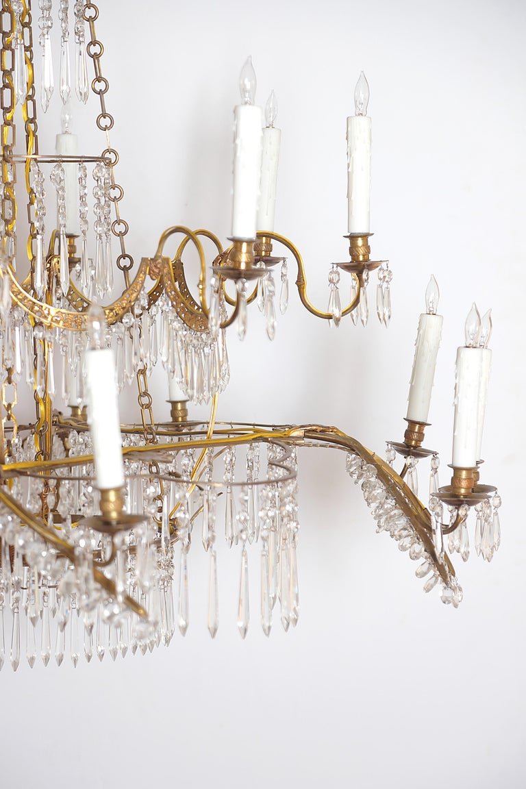 18th Century 20-Light Neoclassic Chandelier, German Probably Werner & Mieth For Sale 1