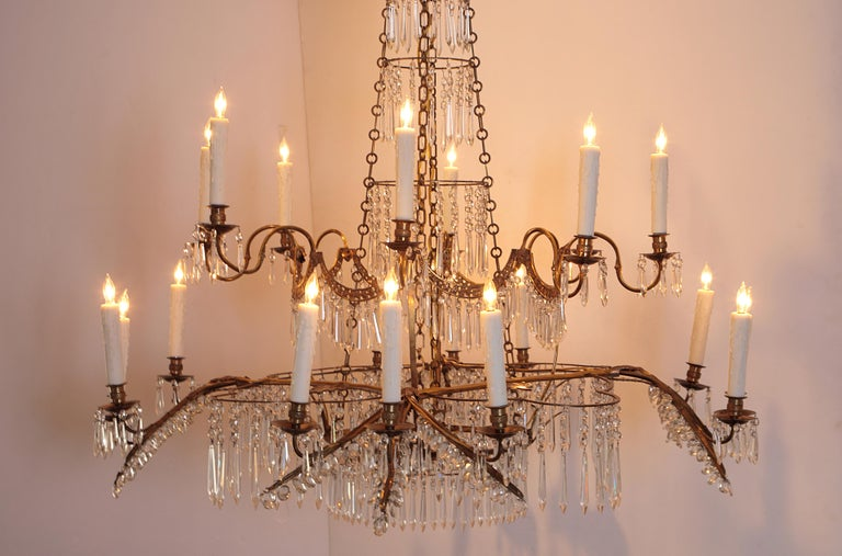 18th Century 20-Light Neoclassic Chandelier, German Probably Werner & Mieth For Sale 3