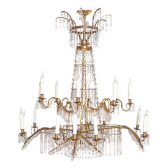 18th Century 20-Light Neoclassic Chandelier, German Probably Werner & Mieth