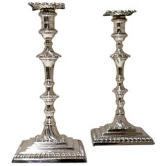 Antique George III Sterling Silver Pair of Candlesticks London 1765 W Cafe