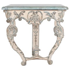 18th Century Austrian Rococo Console Table, Replaced Top