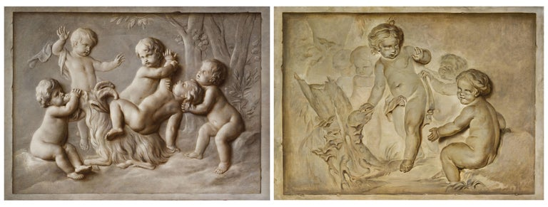 French Oil on Canvas Paintings, Trompe l'œil, Attributed P. J. Sauvage For Sale 5
