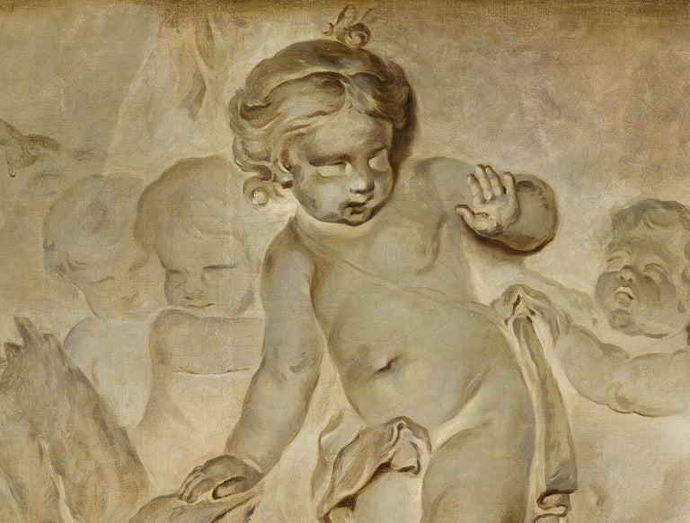French Oil on Canvas Paintings, Trompe l'œil, Attributed P. J. Sauvage For Sale 2