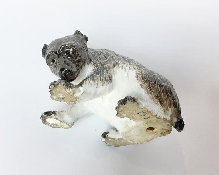 Meissen Porcelain Bear, circa 1740 For Sale 4