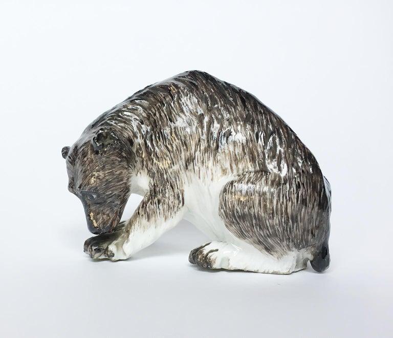 Meissen Porcelain Bear, circa 1740 For Sale 2