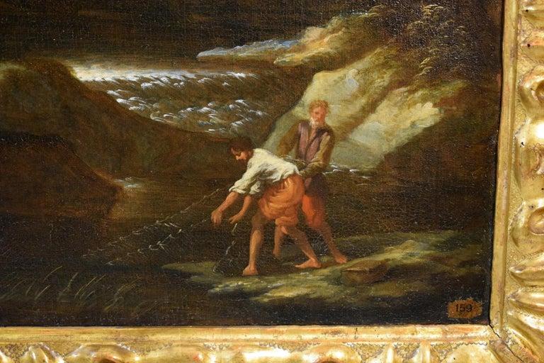 18th Century Pair of Italian Scenes of Country Life, Antonio Francesco Peruzzini For Sale 4