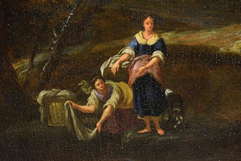 18th Century Pair of Italian Scenes of Country Life, Antonio Francesco Peruzzini For Sale 5