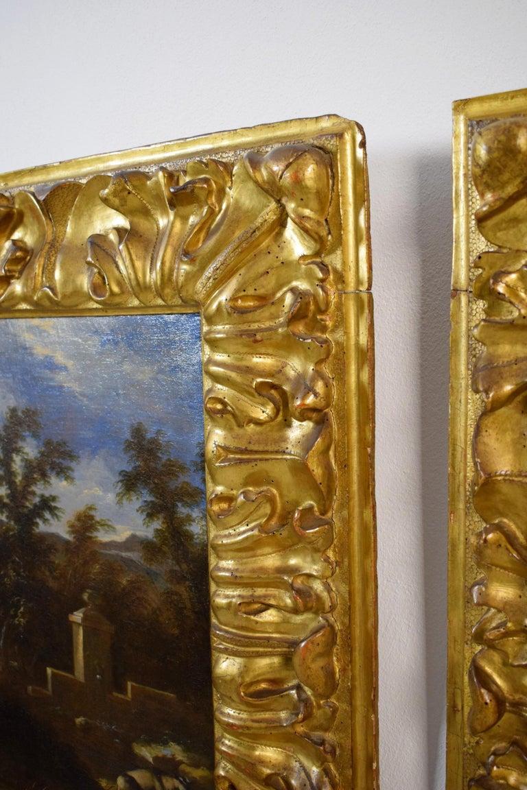 18th Century Pair of Italian Scenes of Country Life, Antonio Francesco Peruzzini For Sale 11