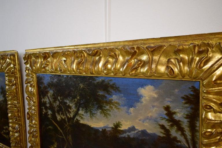 18th Century Pair of Italian Scenes of Country Life, Antonio Francesco Peruzzini For Sale 12